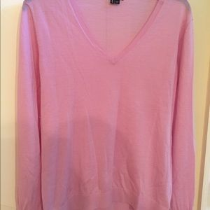 Theory pink wool/spandex light wt. sweater